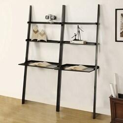 Black 2-piece Leaning Laptop Shelf
