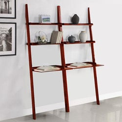 Cherry 2-piece Leaning Laptop Shelf
