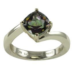 Gems For You Sterling Silver Mystic Topaz Ring (Size 7)