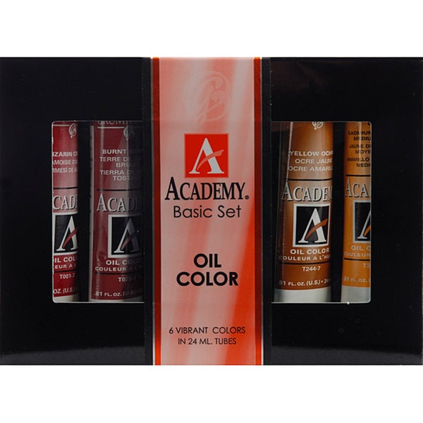 Grumbacher Academy Basic Oil Paint Set (Pack of 6)