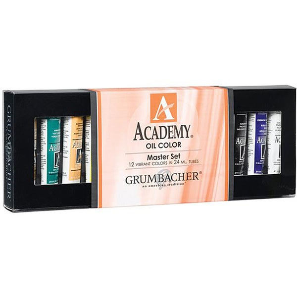 Grumbacher Academy Master Oil Paint Set 24ml 12/Pkg -