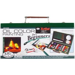 Beginner Oil Painting Wood Box Set