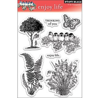 Penny Black ' Enjoy Life' Clear Stamp Sheet