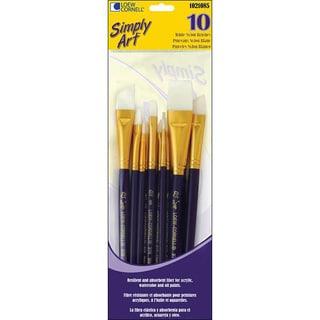 Simply Art White Nylon Brush Set (Pack of 10)