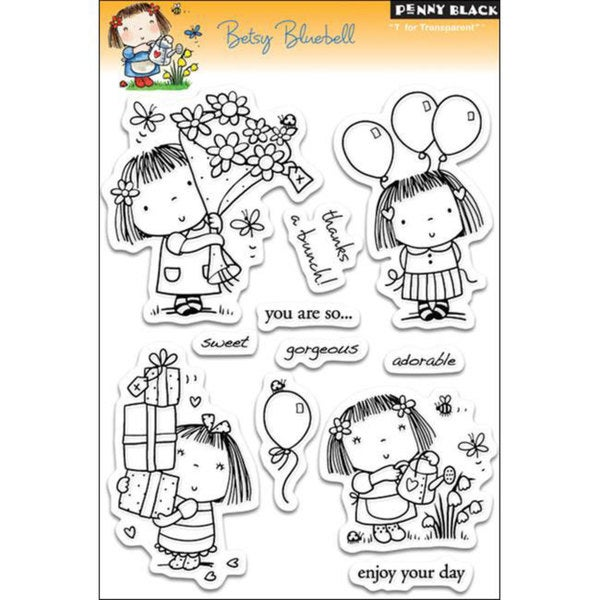 Penny Black 'Betsy Bluebell' Clear Stamp Sheet