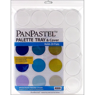 PanPastel 20-color Clear Plastic Palette Tray with Protective Cover
