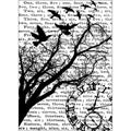 Tim Holtz 'Time' Cling Rubber Stamp