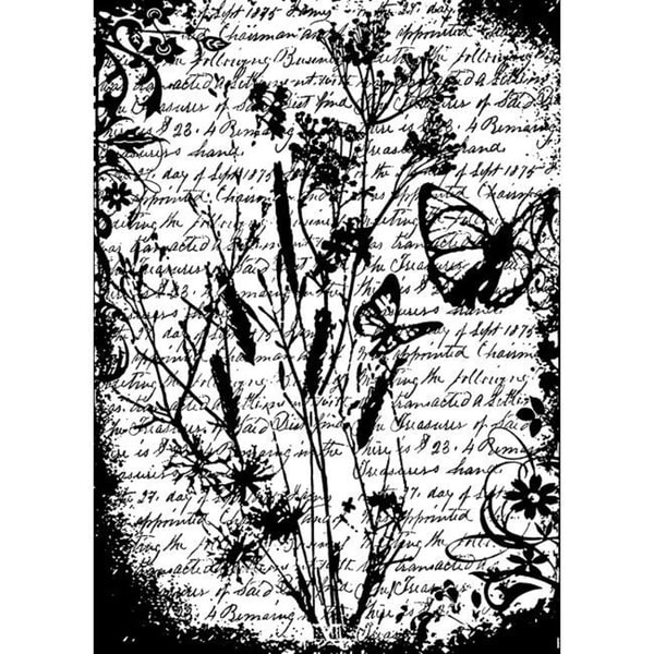Tim Holtz 'Flutter' Cling Rubber Stamp