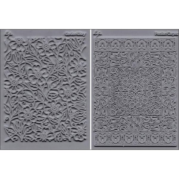 'Flourish Garden Glory and Persian Carpet' Stamp Set (Pack of 2)