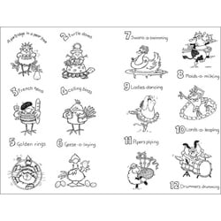 Penny Black '12 Days of Christmas' Clear Stamp Set