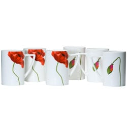 Red Vanilla 'Summer Sun' Mugs (Set of 6)