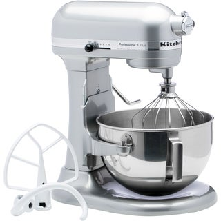 KitchenAid RKV25G0XMC Metallic Chrome Professional 5 Plus Bowl Lift Mixer (Refurbished)