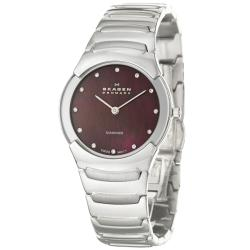 Skagen Women's 'Swiss' Stainless Steel Diamond Quartz Watch
