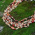 'Summer Exuberance' Pink Freshwater Pearl Necklace (4 mm) (Thailand)