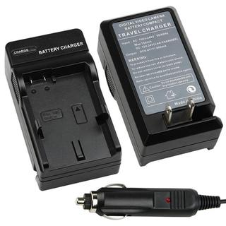 Black Compact Battery Charger Set for Nikon EN-EL14
