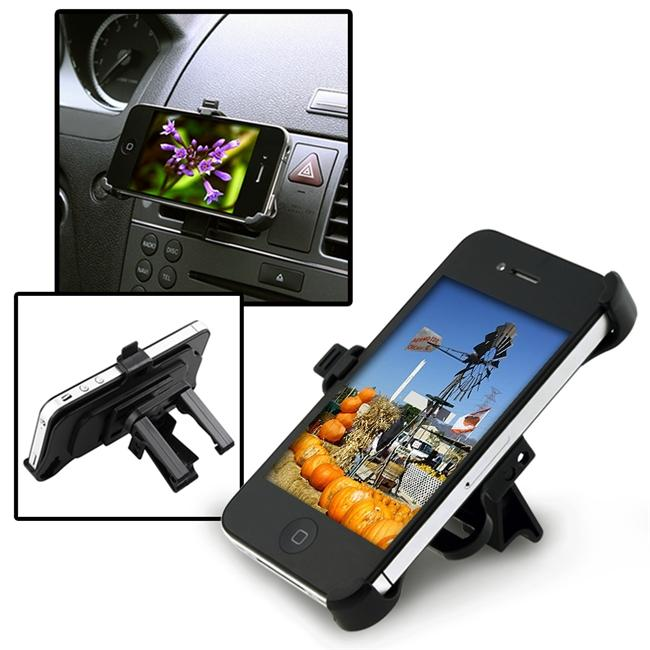 INSTEN Black Car Air Vent Phone Holder for Apple iPhone 4