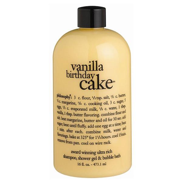 philosophy 16 ounce vanilla birthday cake shampoo shower philosophy iced orchid shampoo shower gel amp bubble bath 16