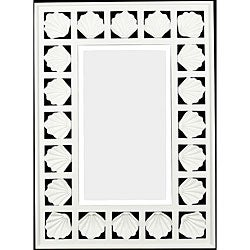 Kenroy Bonhomme 32 Inch High With Antique White Finish Wall Mirror