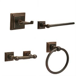 Pueblo Oil Rubbed Bronze 4-piece Bath Set
