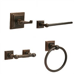 Sure-Loc Oil-Rubbed Bronze Pueblo 4-piece Bathroom Accessory Set