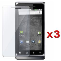Screen Protector for Motorola A955 Droid 2 (Pack of 3)