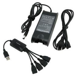 INSTEN Travel Charger/ 4-port Octopus USB 2.0 Hub for Dell Inspiron 1501