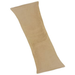 Camel Microsuede Full Length Double Zippered Body Pillow Cover by Sweet JoJo Designs