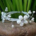 Stainless Steel 'Butterfly Bloom' Freshwater Pearl Bracelet (4-8 mm) (Thailand)