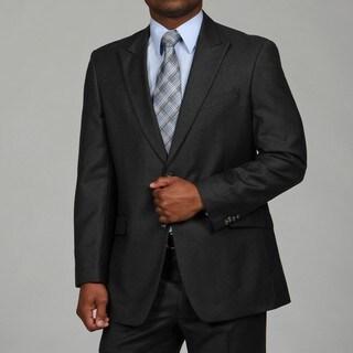 Tommy Hilfiger Men's Charcoal 2-button Wool Suit