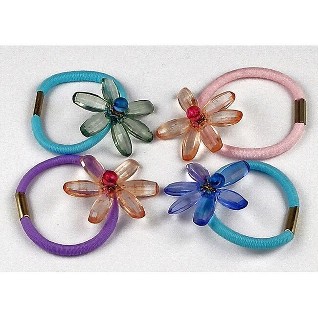 Set of 4 Elastic Hair Ties (India)