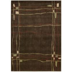Nourison Monaco Brown Abstract Area Rug (5'3
