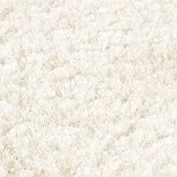 Handmade Malibu White Shag Rug (3'6 x 5'6)