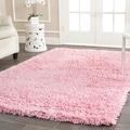 Safavieh Hand-woven Bliss Pink Shag Rug (8'6 x 11'6)