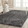Safavieh Handmade Malibu Charcoal Grey Shag Rug (8' x 10')