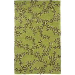 Hand-tufted Painterly Lime Wool Rug (3'3 x 5'3)