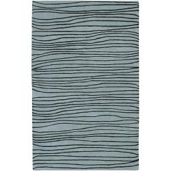 Hand-tufted Stripe Painterly Wool Rug (5' x 8')