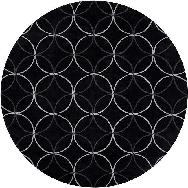 Hand-tufted Contemporary Retro Chic Green Black Geometric