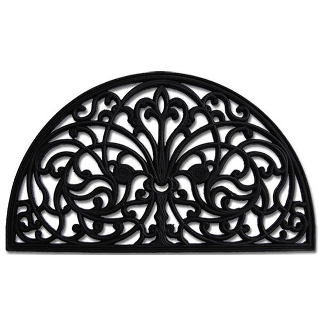 Iris Rubber Doormat 13400841 Overstock Com Shopping