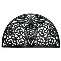 Renaissance Pineapple Half-round Rubber Door Mat (1'6 x 2'6)
