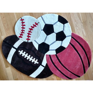 Hand-tufted All Sports Rug (2'8 x 3'9)