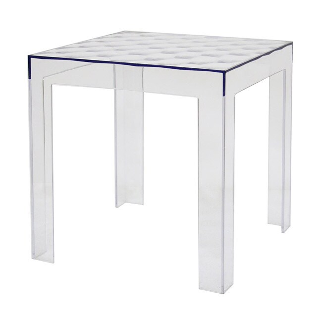 Parq modern clear acrylic end table 13402014 overstock for Overstock acrylic coffee table