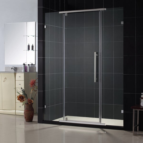 dreamline vitreo frameless pivot shower door overstock shopping big discounts. Black Bedroom Furniture Sets. Home Design Ideas