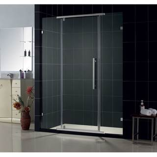 DreamLine Vitreo Frameless Pivot Shower Door with Chrome Finish