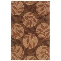 Urban Fashions Hand-tufted Brown Rug (9' x 12'9)