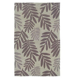 LNR Home Fashion Green Floral Rug (9'3 x 12'6)