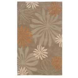 Urban Fashions Hand-tufted Taupe Rug (9' x 12'9)