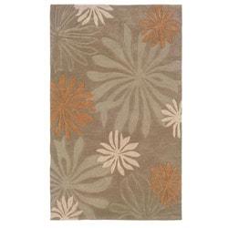 Urban Fashions Hand-tufted Taupe Rug (9' x 12'9)