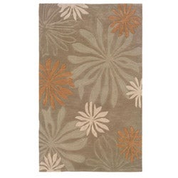 Urban Fashions Hand-tufted Taupe Rug (5' x 7'9)