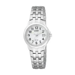 Citizen Eco-Drive Stainless Steel Women's White Dial Watch