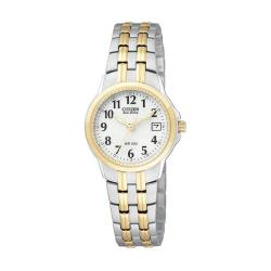 Citizen Eco-Drive Two-tone Stainless Steel Women's White Dial Watch
